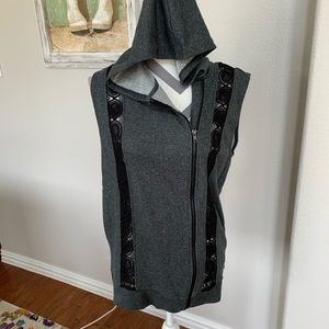 NWT Fabletics Gray Soft French Terry Vest M